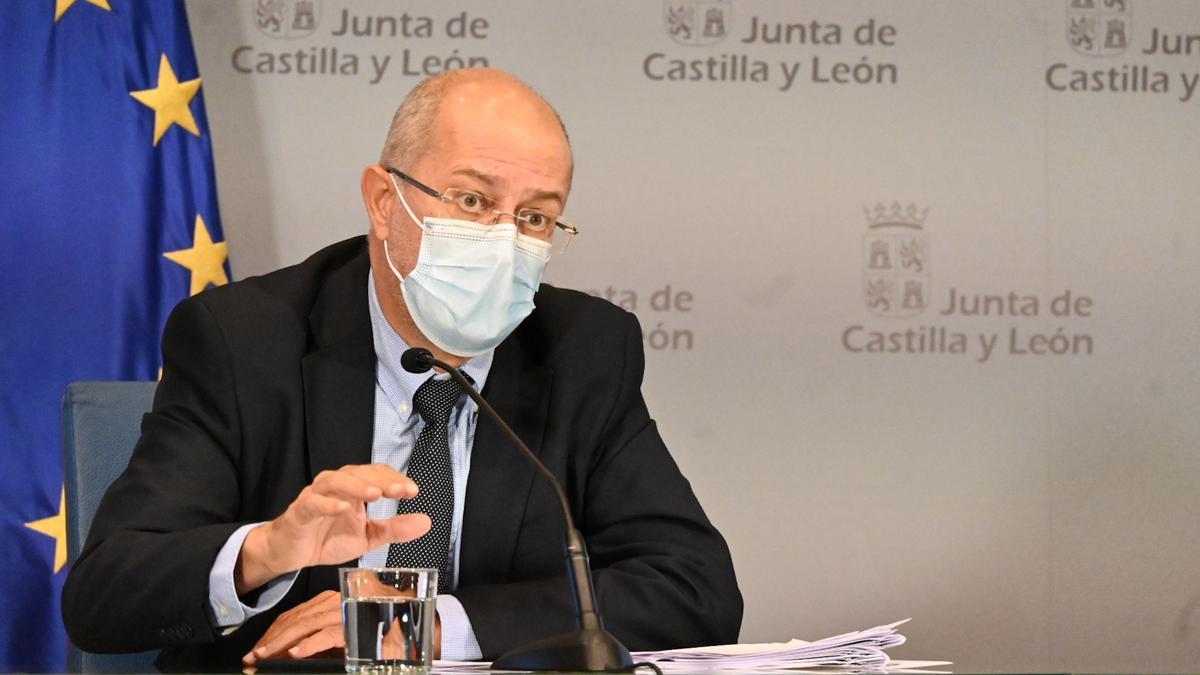 El vicepresidente de la Junta de Castilla y León, Francisco Igea, en la rueda de prensa posterior al Consejo de Gobierno.