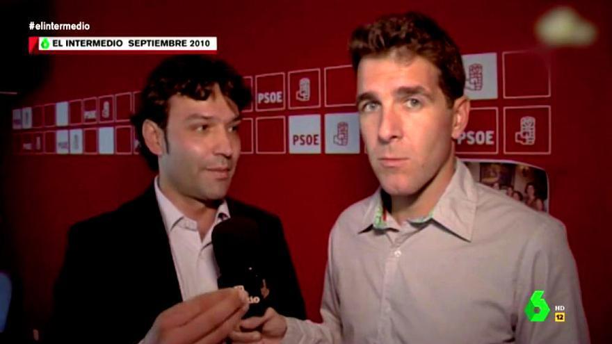 El actual alcalde de Tordesillas, con Gonzo en 'El Intermedio'