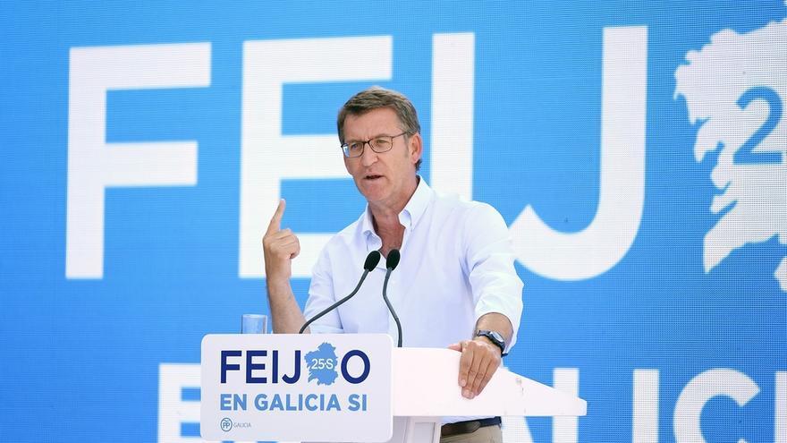 """Feijóo reivindica la """"Galicia del sí"""" frente al bloqueo en España y el """"no es no"""" de otros partidos"""