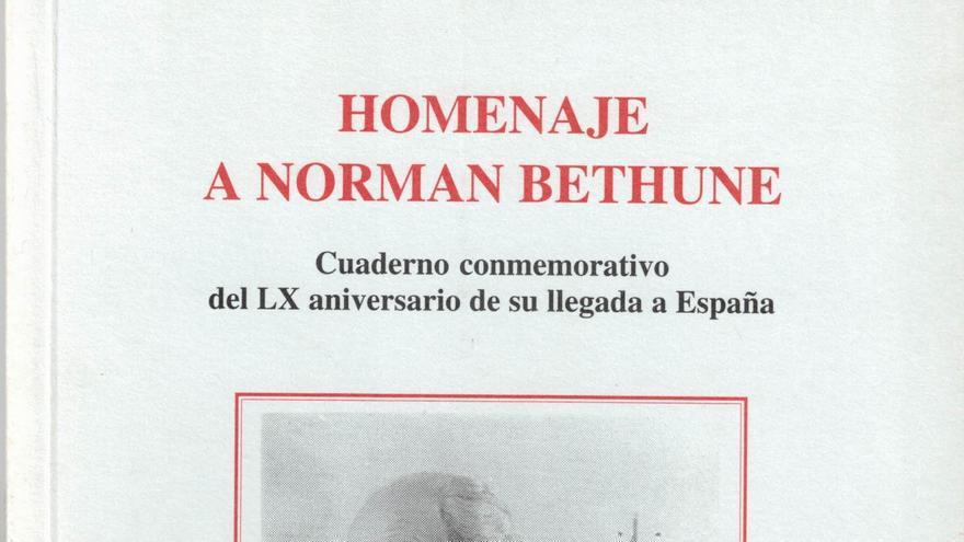 Folleto del homenaje a Norman Bethune celebrado en 1996