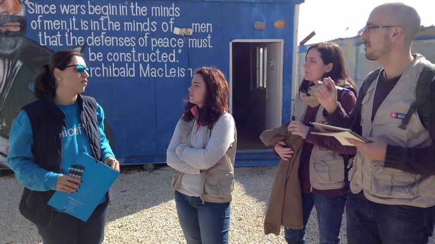 Laura Pérez, concejala de Relaciones Internacionales del Ayuntamiento de Barcelona, preside la delegación municipal que visitó Jordania.