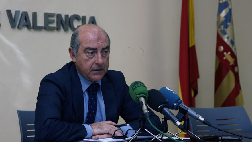 El delegado de Urbanismo del Ayuntamiento de Valencia en rueda de prensa