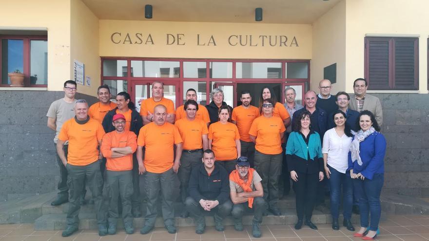 Acto de presentación del 'Programa de Formación en Alternancia con el Empleo Puntallana Verde y Sostenible'.