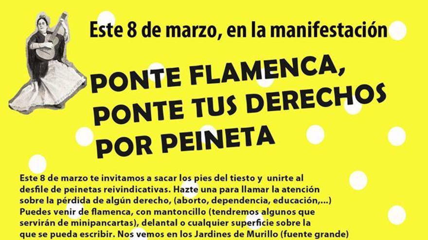 "Convocatoria en Sevilla: ""Ponte tus derechos por peineta"""