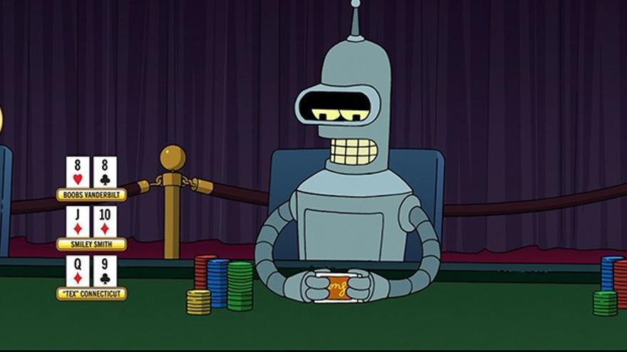 El robot Bender, de la serie Futurama