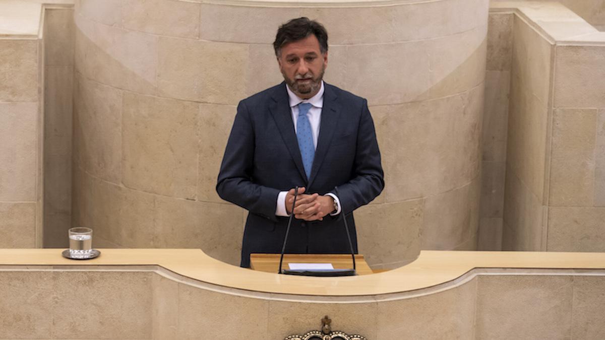 Cristóbal Palacio, portavoz de Vox en el Parlamento de Cantabria.