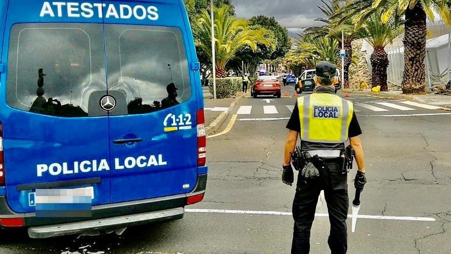 Control policial en La Laguna