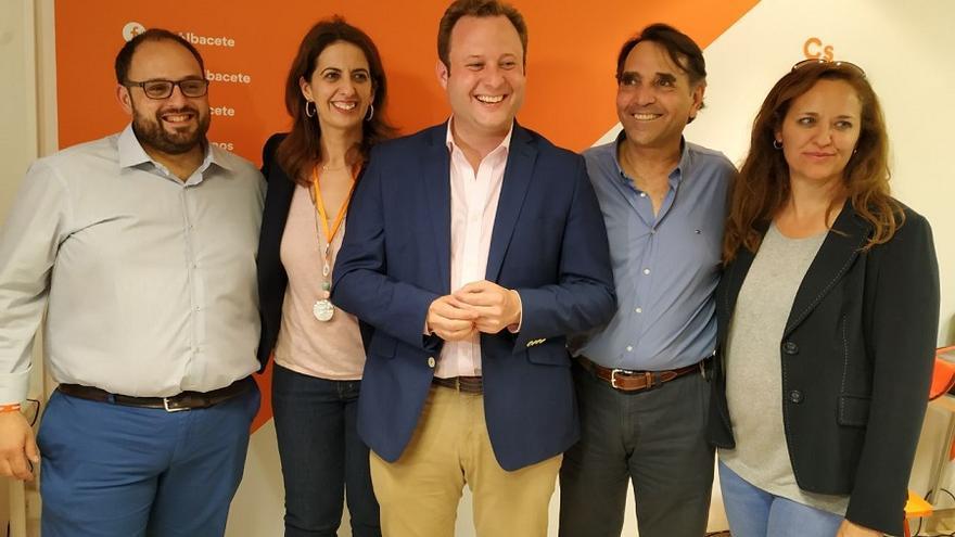 Los cinco concejales electos de Ciudadanos en el Ayuntamiento de Albacete