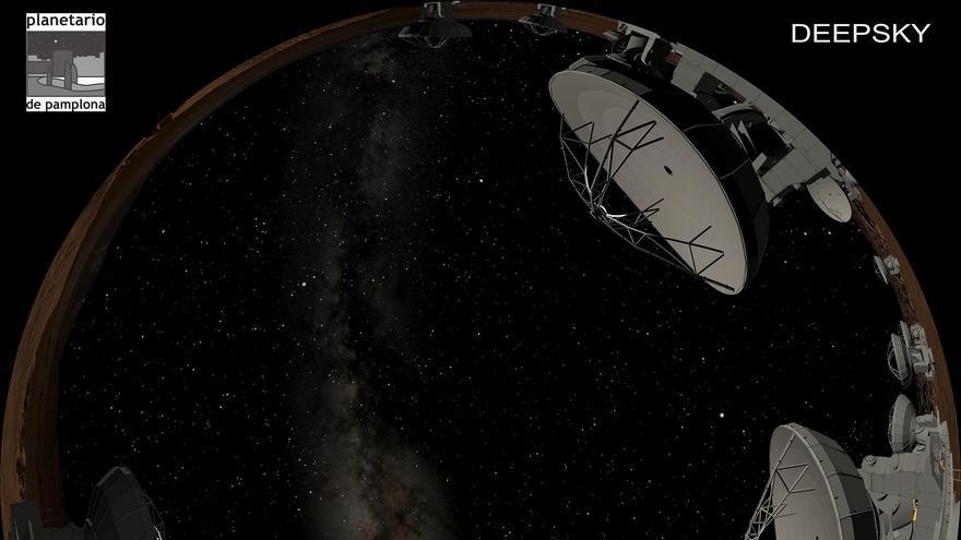 Un avance de 'Deep Sky', una producción en la que participa el Planetario de Pamplona.