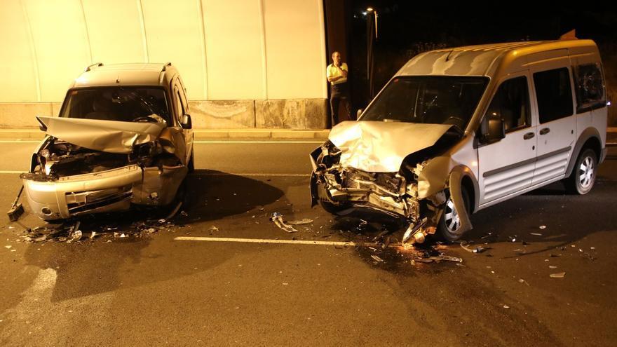 Los dos vehículo implicados en la colisión.
