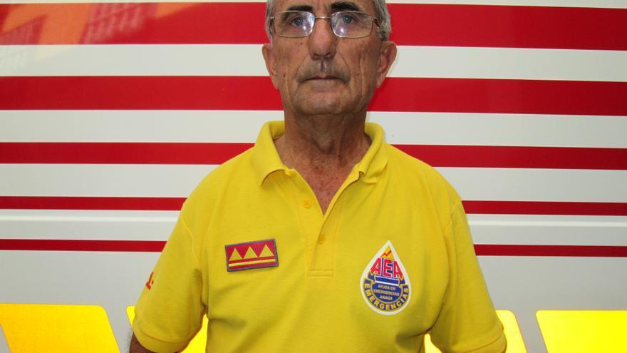 Domiciano Yanes es delegado insular de Ayuda en Emergencia Anaga (AEA). Foto: LUZ RODRÍGUEZ