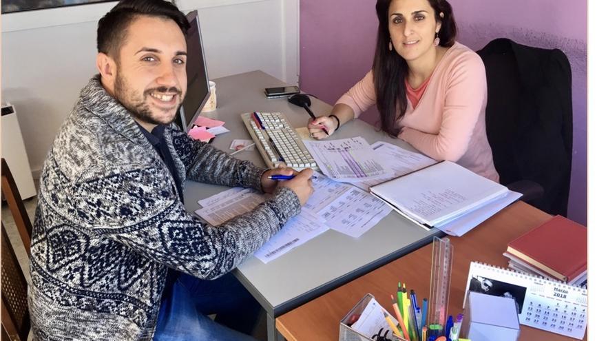 Borja Rodríguez y Rocío Rocha.