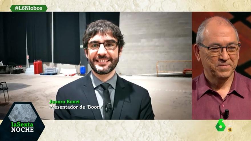 """Juanra Bonet sorprende a los Lobos en su visita a 'laSexta Noche': """"Hemos tenido que vender el plató"""""""