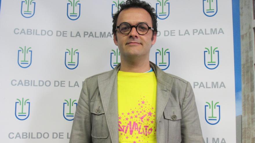 El cineasta palmero José Víctor Fuentes es el director de El Festivalito. Foto: LUZ RODRÍGUEZ.