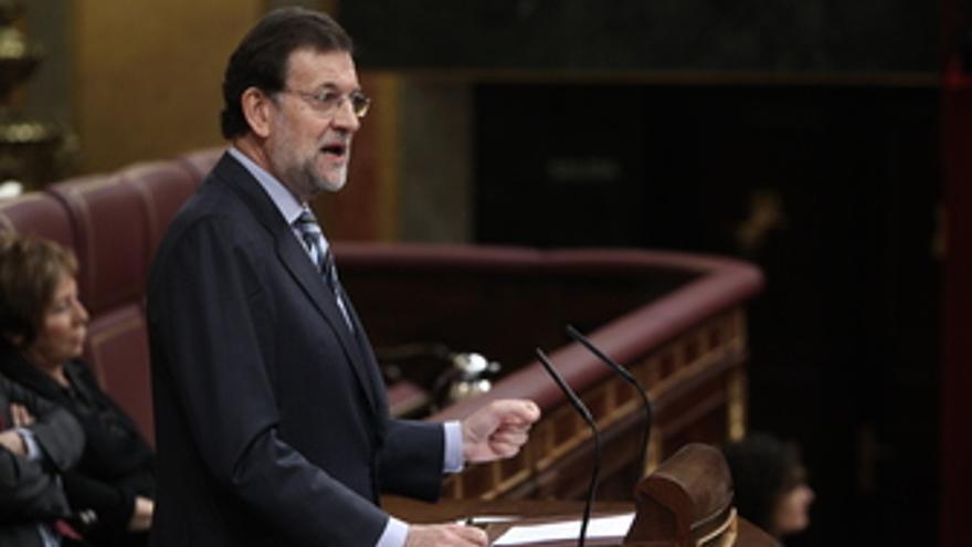 Mariano Rajoy, en el pleno del Congreso