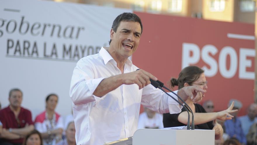 """Pedro Sánchez pide el voto para la """"política limpia"""" que construya """"una Valencia con honra"""""""