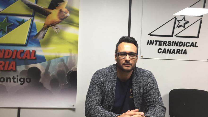 Miguel Ángel González Morales, portavoz de Intersindical Canaria en la Federación de Hostelería de Tenerife