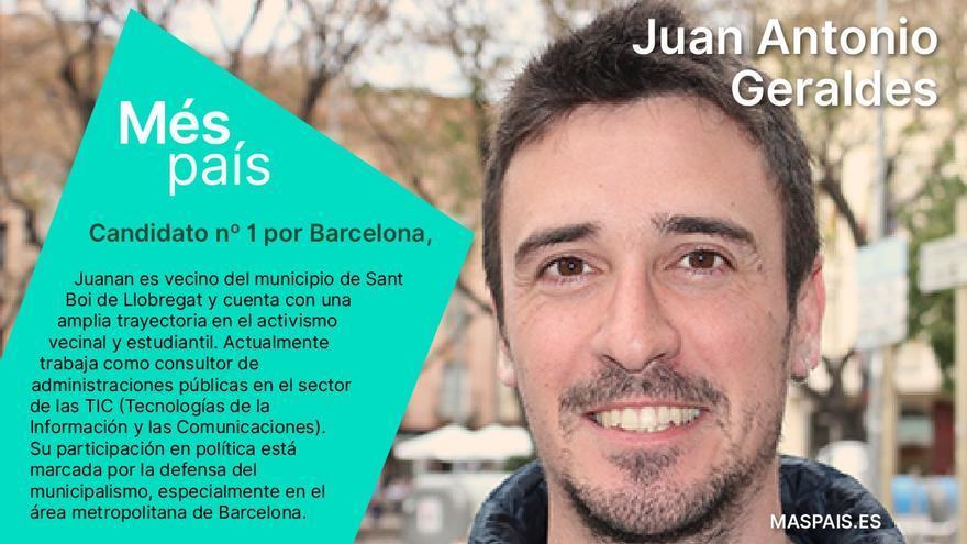 Juanan Geraldes, candidato de Más País por Barcelona