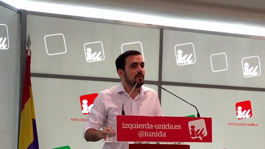 Alberto Garzón, en su primera intervención ante la Asamblea Política y Social.