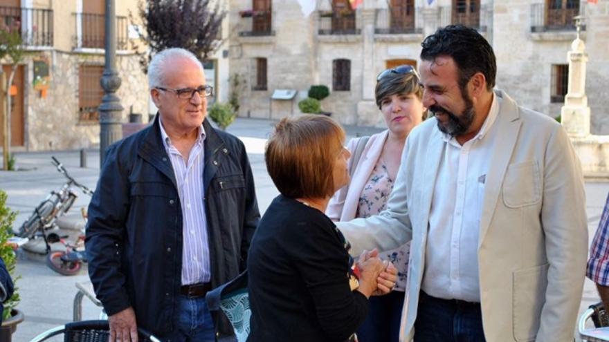 Ángel Valiente junto a José Luis Blanco en Priego