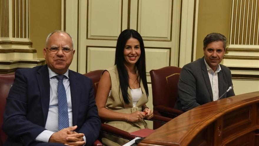 Los diputados de ASG, en el Parlamento de Canarias