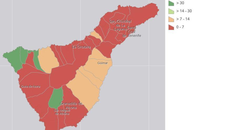Cinco municipios de Tenerife, libres de COVID-19 desde hace una semana