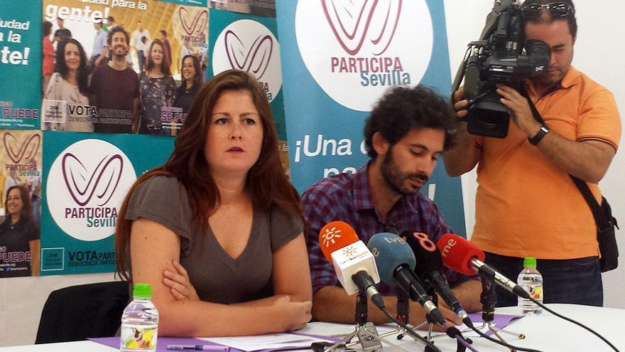 Susana Serrano y Julián Moreno, de Participa Sevilla. / J.M.B.