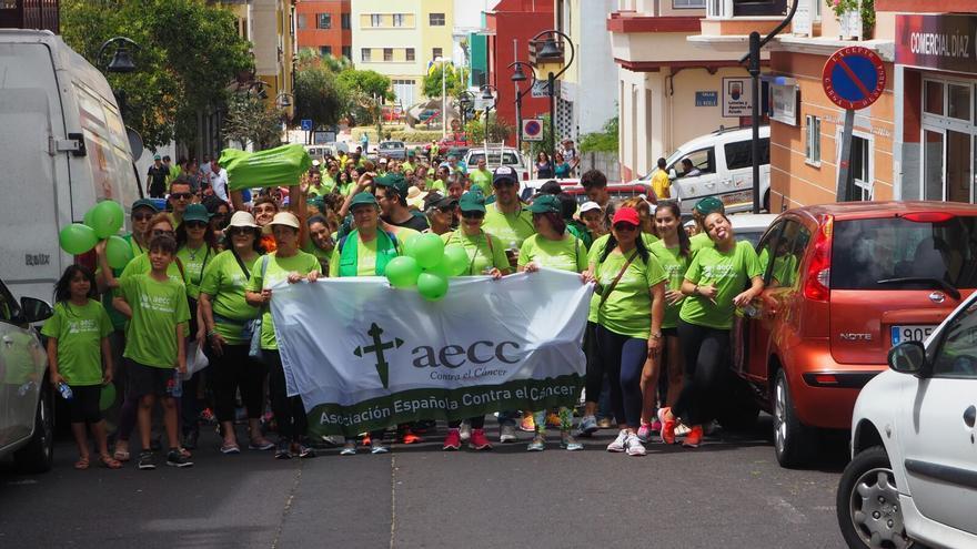 La marcha contra el cáncer recorrió las calles de San Pedro.