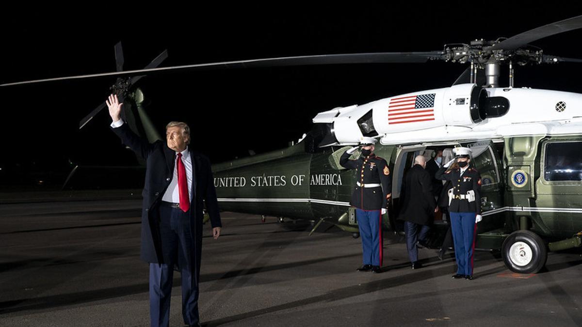El presidente Donald Trump, tras una reunión celebrada el 4 de enero en Georgia