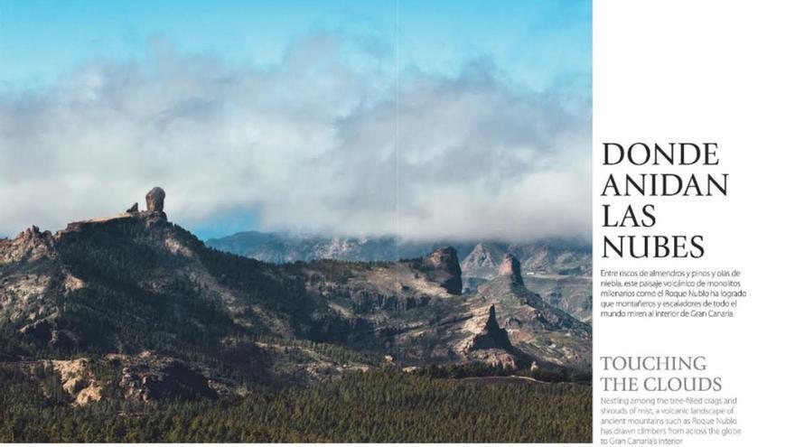 Reportaje sobre Gran Canaria en la revista de Iberia.