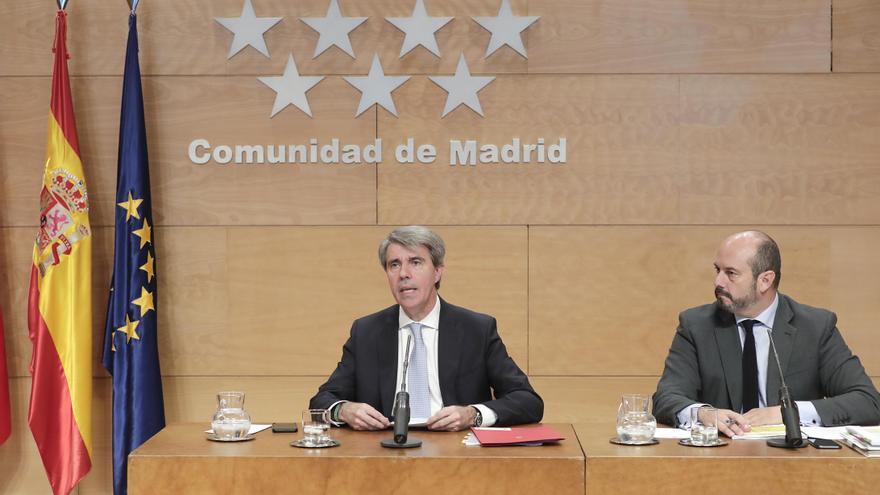 El presidente del Gobierno, Ángel Garrido, y el vicepresidente, Pedro Rollán. / Comunidad de Madrid