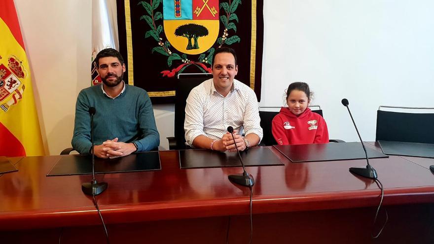 Recepción en el Ayuntamiento de Breña Alta.