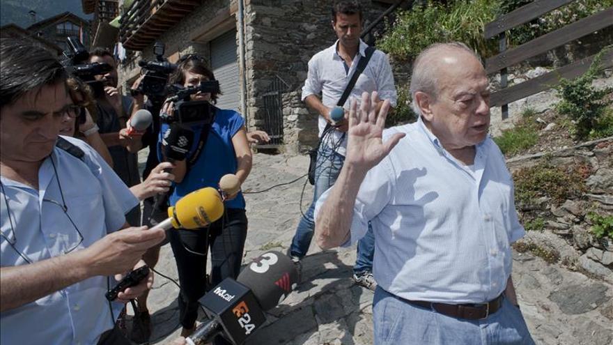 Jordi Pujol, en su residencia veraniega de Queralbs (Girona). EFE