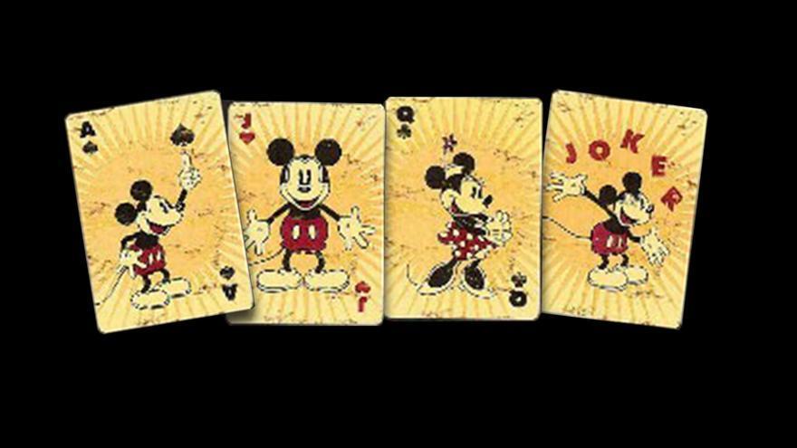 Naipes de una baraja de Mickey Mouse