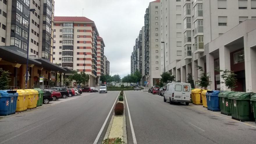 Edificios de viviendas en una ciudad gallega