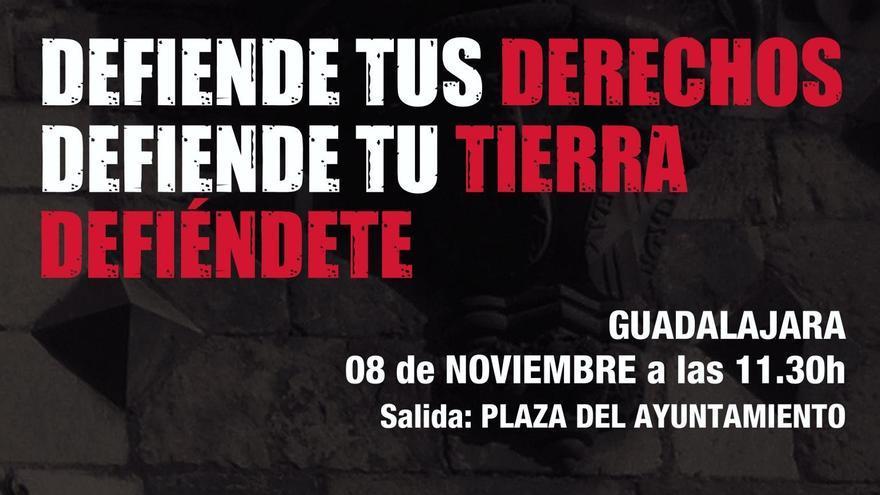 Cartel Manifestacion derechos sociales Guadalajara, 8/11/14