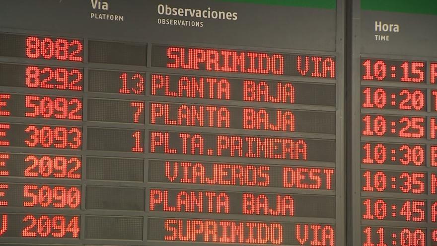 La huelga de Renfe tiene un seguimiento del 1,1% de los trabajadores pero obliga a cancelar 2.175 trenes