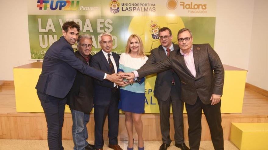 La Unión Deportiva apoyará las actividades de esta iniciativa social con la imagen de los jugadores de la primera plantilla y una serie de acciones solidarias.