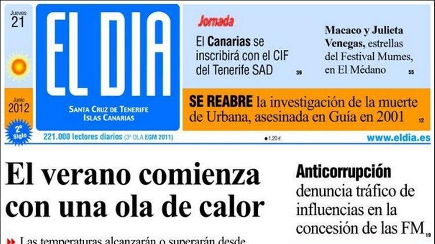 De las portadas del día (21/06/2012) #3