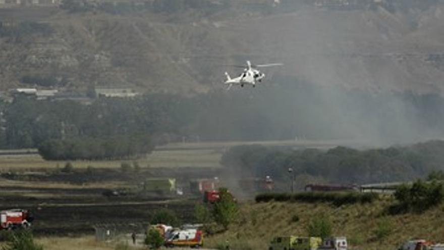 Imagen del accidente de Spanair en Barajas. (EUROPA PRESS)