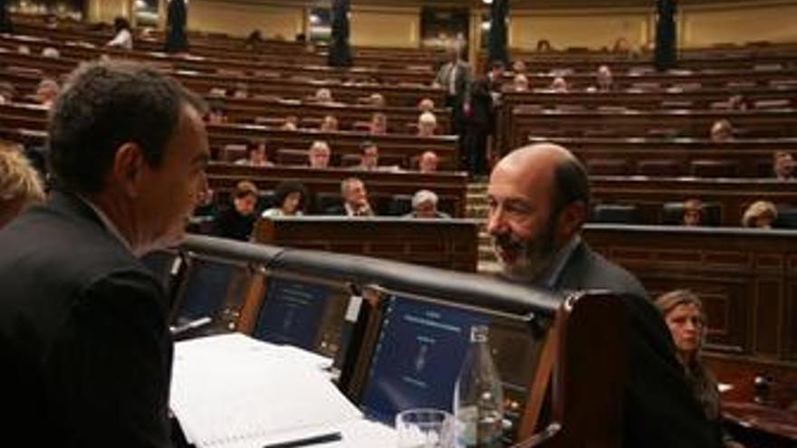 Zapatero y Alfredo Pérez Rubalcaba