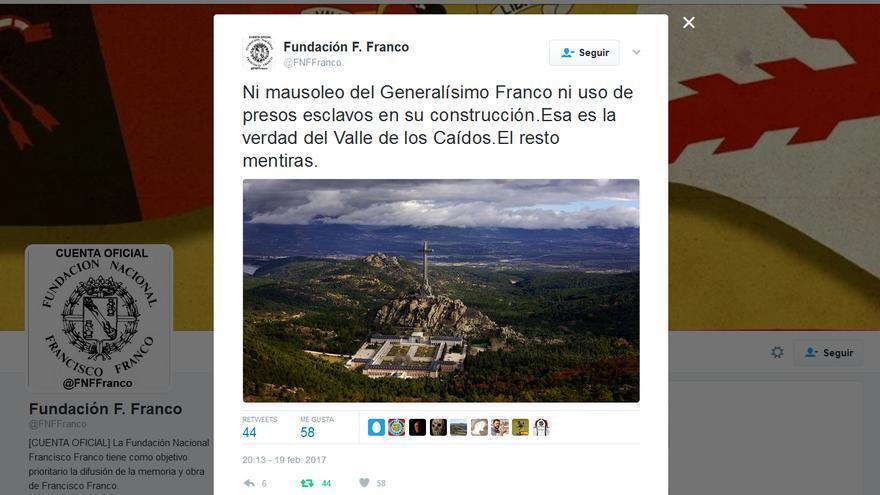 """La Fundación Franco, sobre la """"verdad"""" del Valle de los Caídos."""