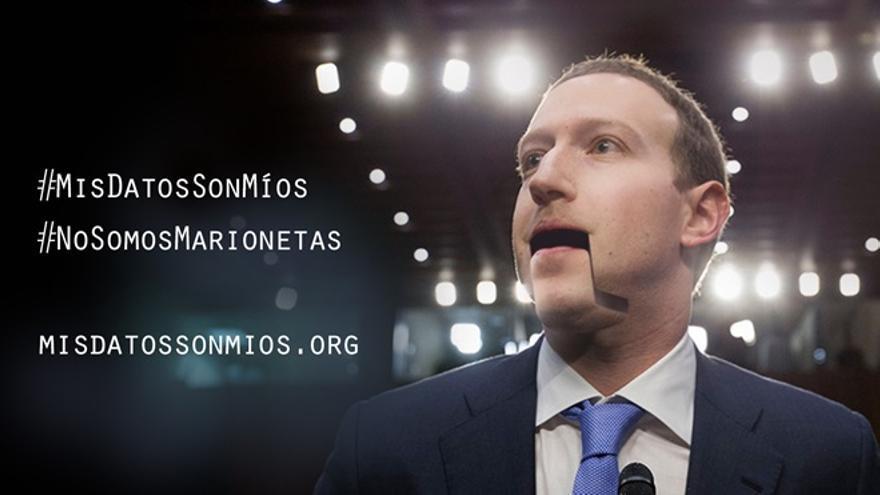 """Imagen de la campaña """"Mis datos son míos"""" de la OCU."""