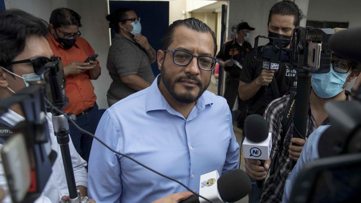 El precandidato a la presidencia de Nicaragua por la oposición Félix Maradiaga .