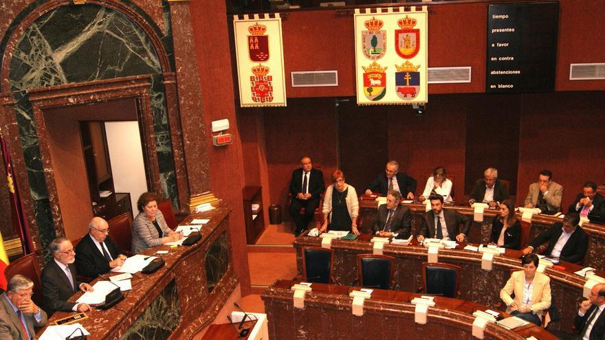 García Retegui en un Pleno de la Asamblea Regional de Murcia