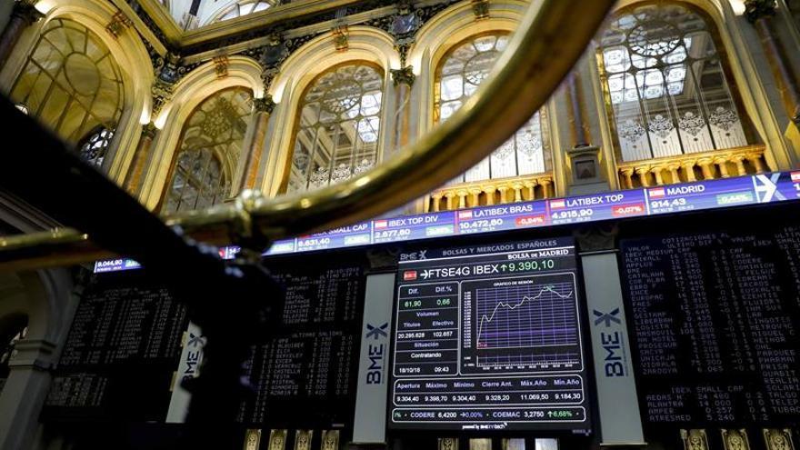 El IBEX 35 cae un 0,71 % a mediodía, lastrado por la banca