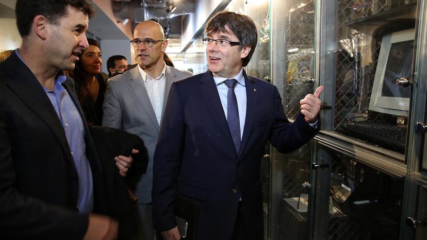 """Puigdemont dice que """"lo que vale para Escocia vale para Cataluña"""" sobre seguir en la UE"""