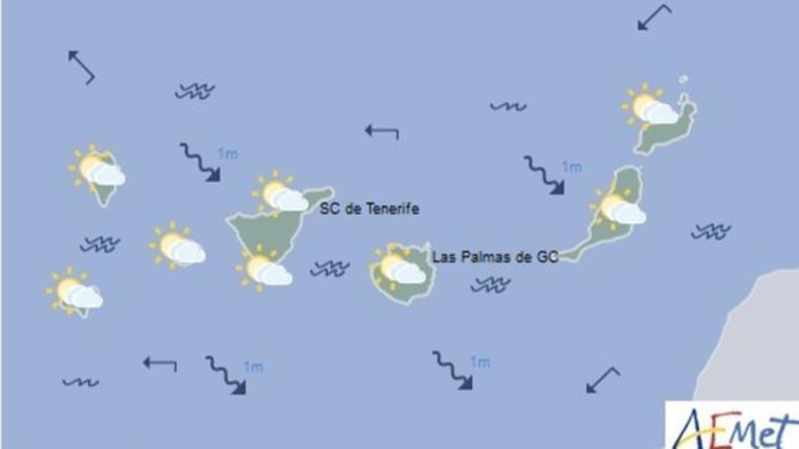 Mapa con la previsión meteorológica de este martes, 25 de abril de 2017
