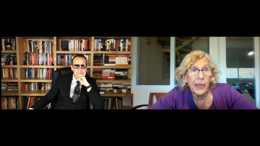 Risto y Manuela Carmena en el programa