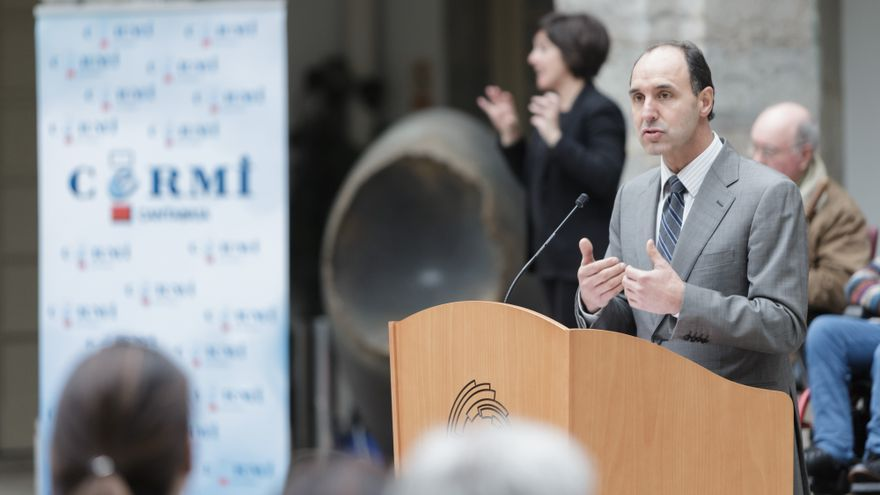 El presidente de Cantabria, Ignacio Diego, durante un acto en el Parlamento regional